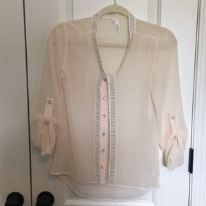 Maurices Tie Neck Blouse
